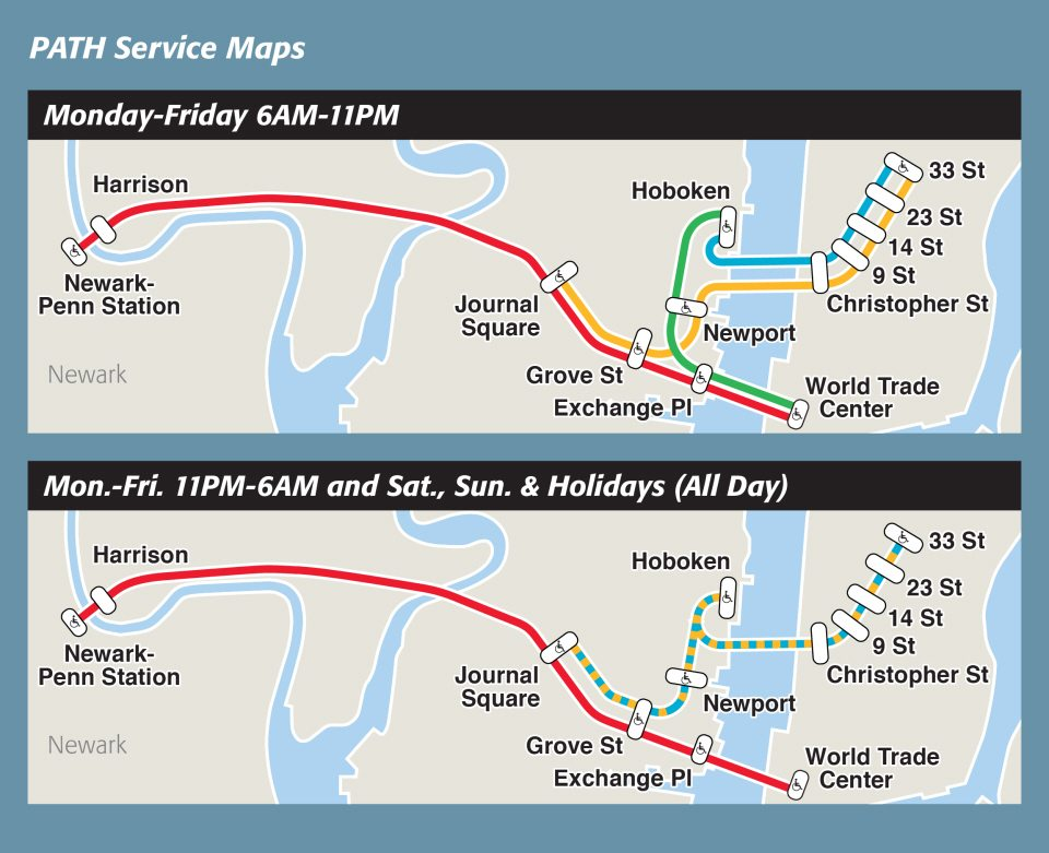Subway Map From New Jersey To New York.3 Best Ways To Get From Nj To Nyc Manhattan Train Bus Ferry
